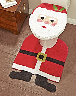 Santa Seat Cover and Pedestal Mat