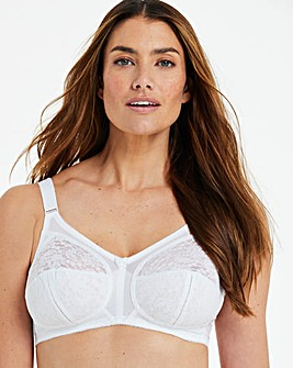 Naturally Close Dotty Full Cup Non Wired White Bra
