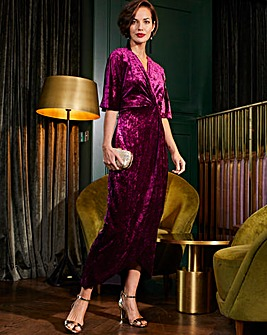 Joanna Hope Berry Velvet Maxi Dress