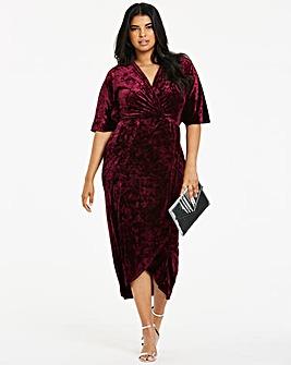 Joanna Hope Berry Velvet Maxi Dress