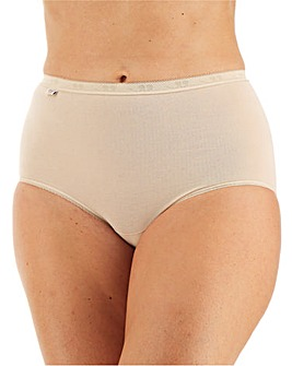 Sloggi 3Pack Maxi Briefs, Wht,Blk or Skn