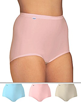 Sloggi 3Pack Maxi Briefs, Brgt or Past