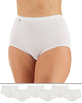 Sloggi 6Pack Basic Maxi Briefs, Black, White or Skintone