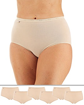 Sloggi 6 Pack Basic Maxi Briefs