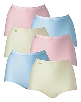 Sloggi 6Pack Maxi Briefs, Brgt or Past