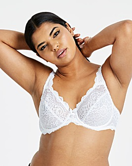 Playtex Flower Lace White Bra