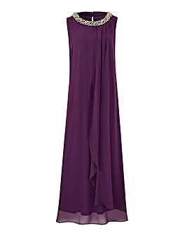 Joanna Hope Beaded Neck Maxi Swing Dress