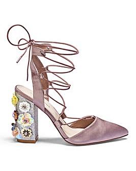Glamorous Embellished Heel Sandal Standard D Fit