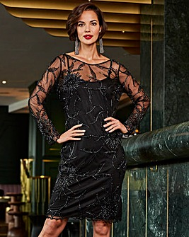 Joanna Hope Embellished Shift Dress