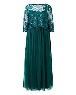 Joanna Hope Mesh Skirt Maxi Dress
