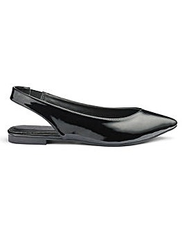 Natalie Low Vamp Pointed Slingback Extra Wide EEE Fit