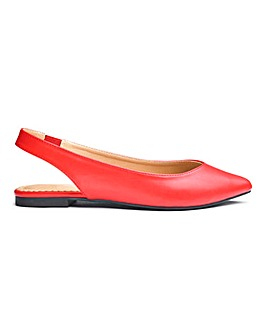 Natalie Low Vamp Pointed Slingback Wide E Fit