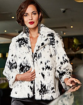 Joanna Hope Short Faux Fur Jacket