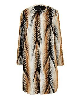 Joanna Hope Faux Fur Edge To Edge Coat