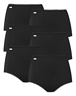 Playtex Cherish 6Pack Maxi Briefs, Black, Pink Asst or Skintone