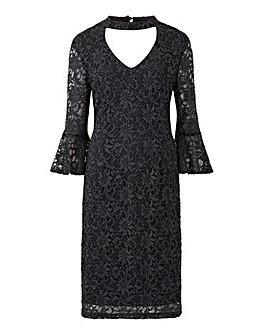 Joanna Hope Glitter Lace Dress