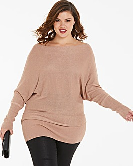 Joanna Hope Metallic Longline Jumper