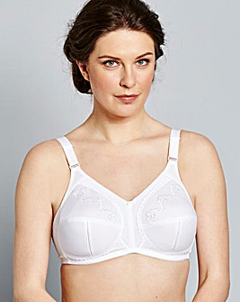 Dotty Non Wired White Bra