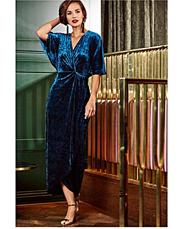 Joanna Hope Velour Maxi Dress