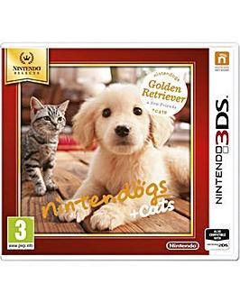 Nintendogs  Cats Golden Retriever 3DS