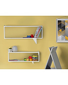 Set of 2 Speech Bubble Shelves