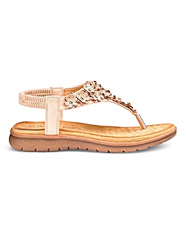 fe7f2f04d59 Heavenly Feet Toe Post Sandals E Fit