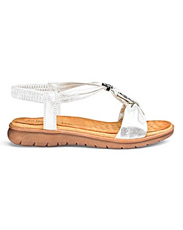Heavenly Feet Strappy Sandals Extra Wide EEE Fit
