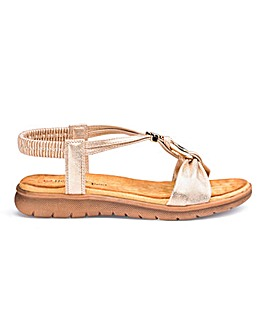 Heavenly Feet Strappy Sandals Wide E Fit