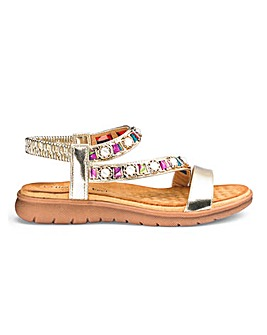 Heavenly Feet Beaded Sandals EEE Fit