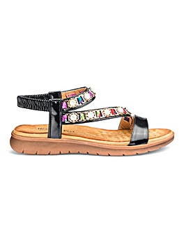 453dc687b3d Heavenly Feet Beaded Sandals E Fit