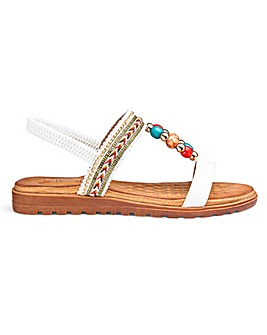 Heavenly Feet Beaded Sandals E Fit