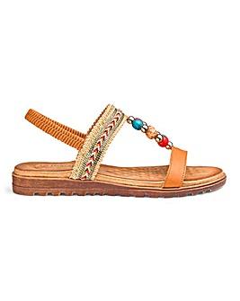 Heavenly Feet Beaded Sandals EEE Fit