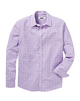 Lilac Check Long Sleeve Formal Shirt