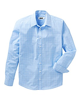 Blue Check Long Sleeve Formal Shirt Long