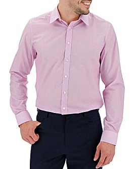 Pink Stripe Long Sleeve Formal Shirt Long