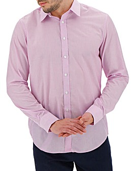 Pink Stripe Long Sleeve Formal Shirt