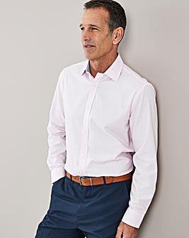 Pink Long Sleeve Cotton Royal Oxford Shirt Regular