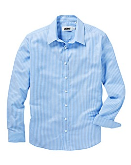 Stripe Long Sleeve Royal Oxford Shirt