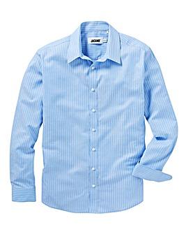 Stripe Long Sleeve Royal Oxford Shirt