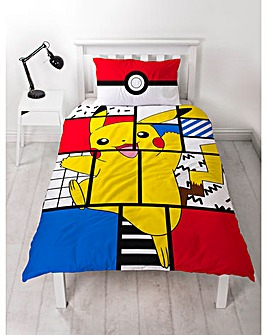 Pokemon Memphis Single Panel Duvet