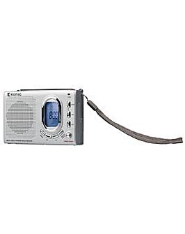 Konig Travel Size Radio Alarm Clock
