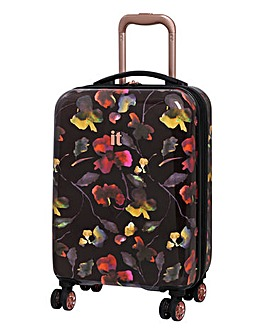 it Luggage Black Imprint Cabin Case