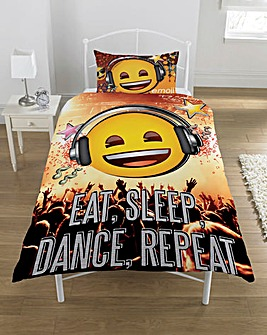 Emoji Eat Sleep Dance Single Duvet