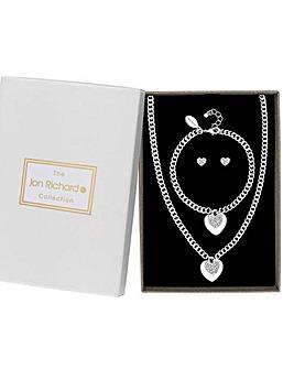 Jon Richard Heart Charm Jewellery Set
