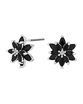 Jon Richard Black Flower Stud Earring