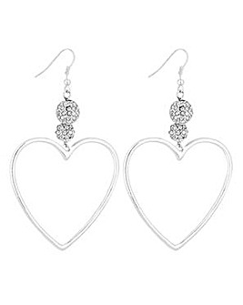 Lipsy Heart Hoop Drop Earrings