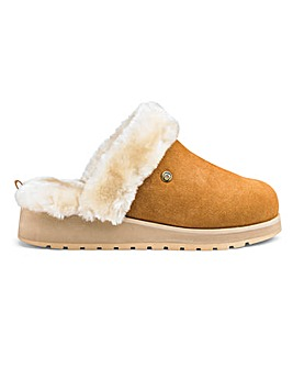 Skechers Ice Angel Suede Mule Slippers