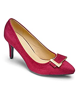 Heavenly Soles Court Shoes With Trim Detail Wide E Fit
