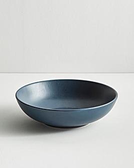 Buxton Stoneware Pasta Bowls Navy