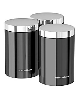 Morphy Richards Accents Canisters Black